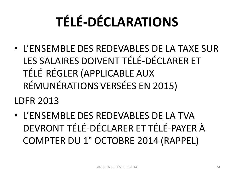 TÉLÉ-DÉCLARATIONS