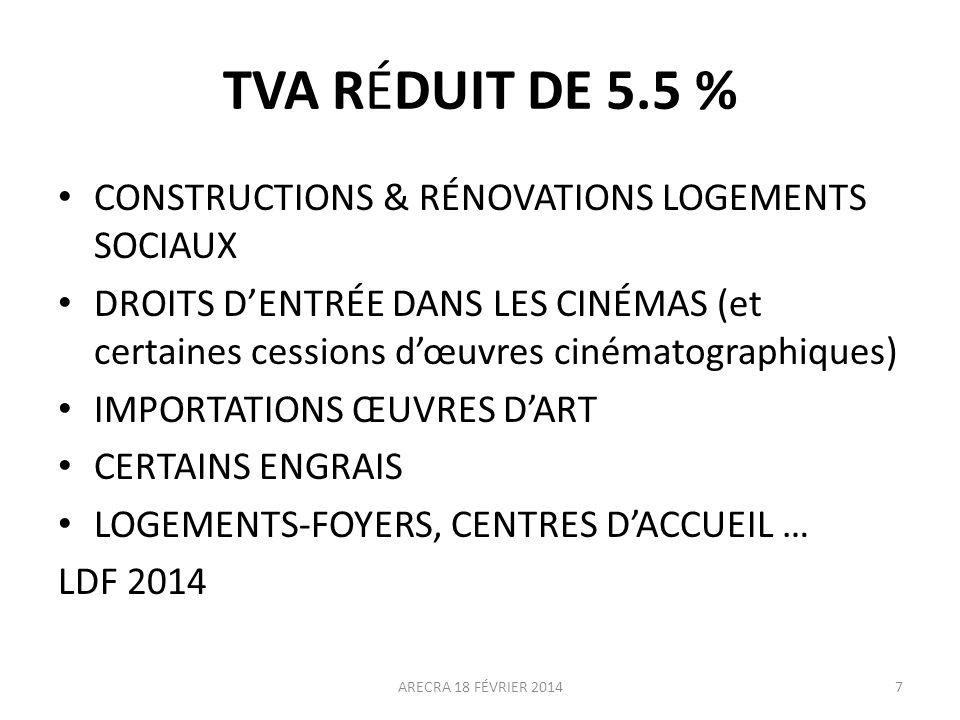 TVA RÉDUIT DE 5.5 % CONSTRUCTIONS & RÉNOVATIONS LOGEMENTS SOCIAUX