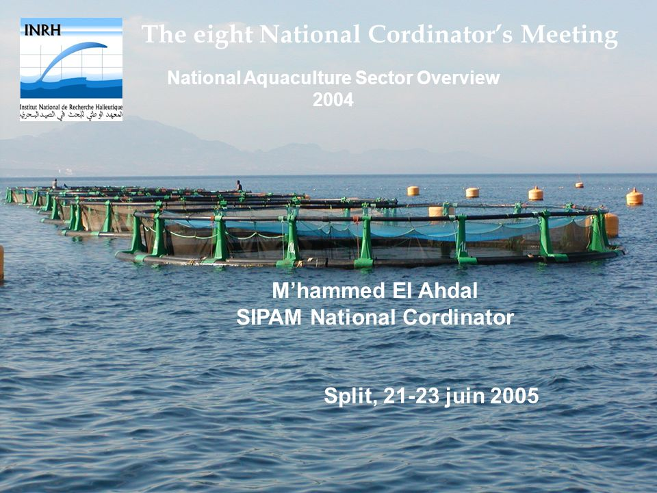 National Aquaculture Sector Overview 2004 SIPAM National Cordinator