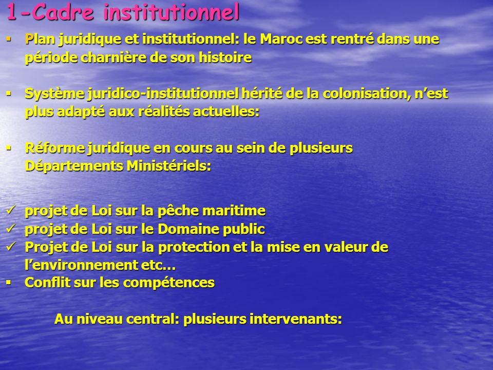 1-Cadre institutionnel