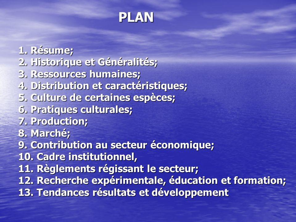 PLAN 1. Résume; 2. Historique et Généralités; 3. Ressources humaines;