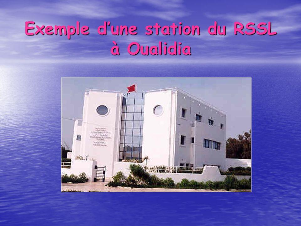 Exemple d'une station du RSSL à Oualidia