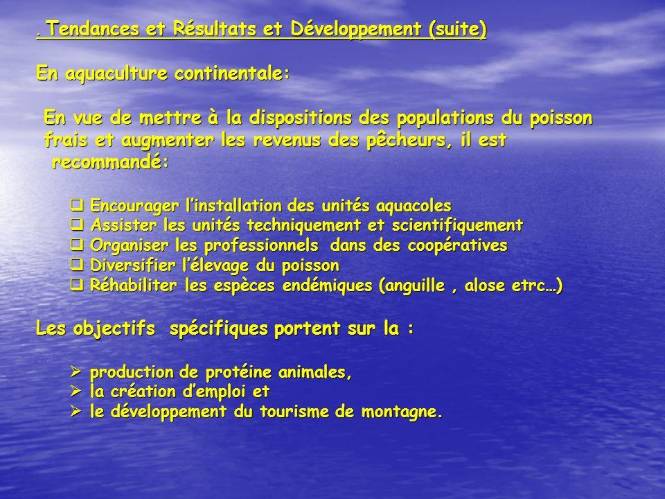 En aquaculture continentale: