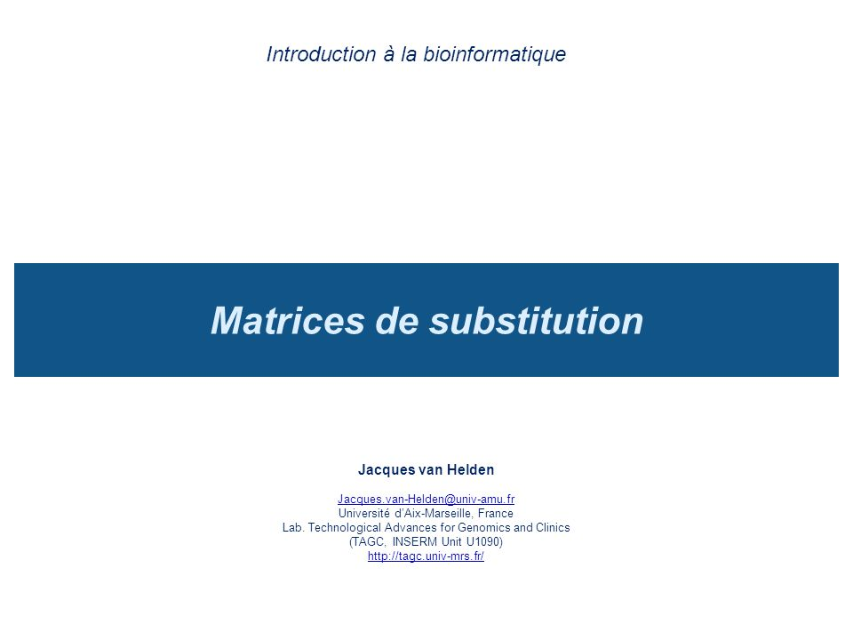 Matrices de substitution
