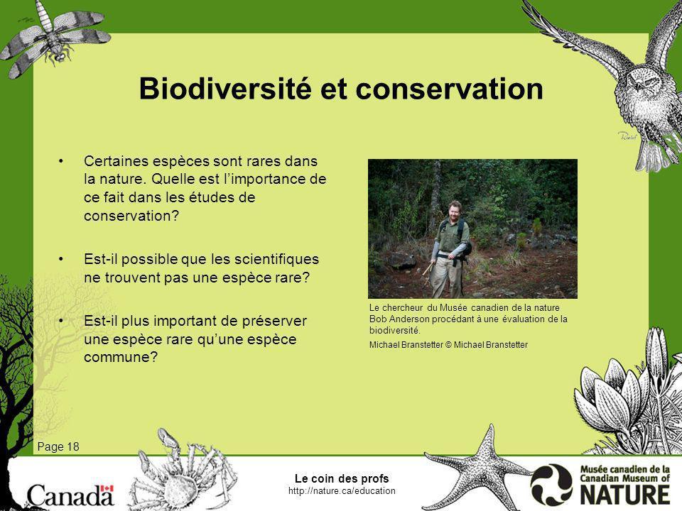 Biodiversité et conservation
