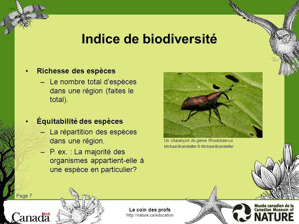 Indice de biodiversité