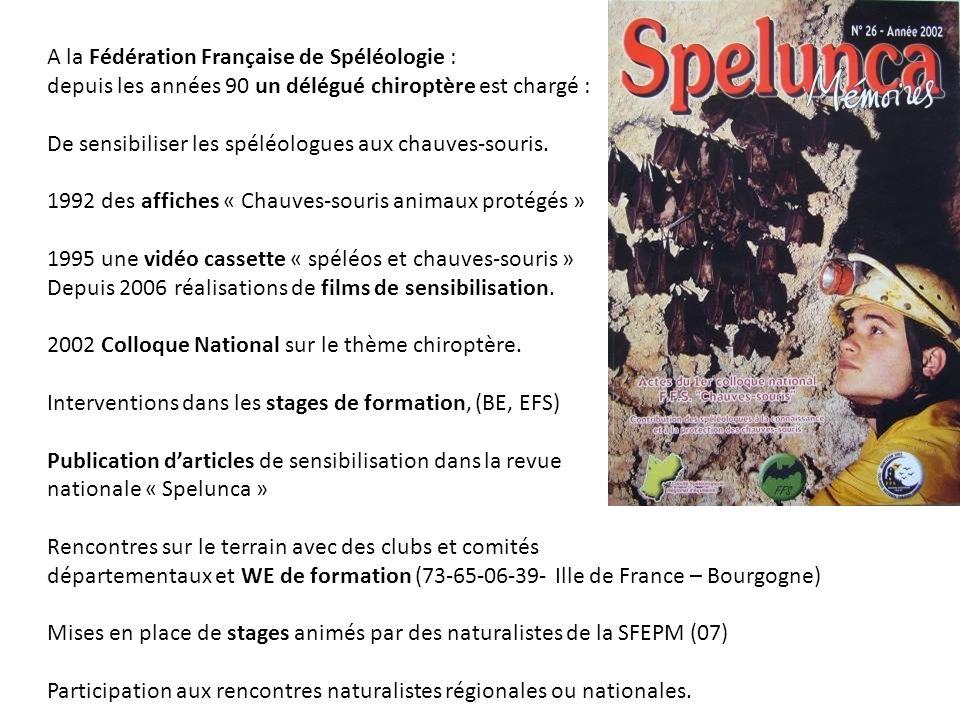 A la Fédération Française de Spéléologie :