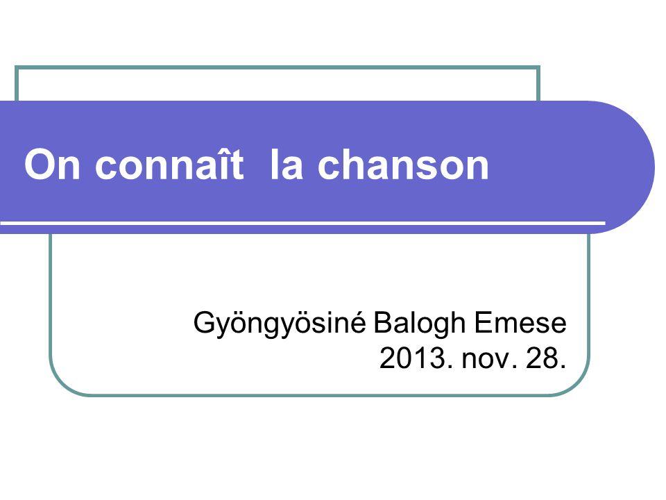 Gyöngyösiné Balogh Emese 2013. nov. 28.