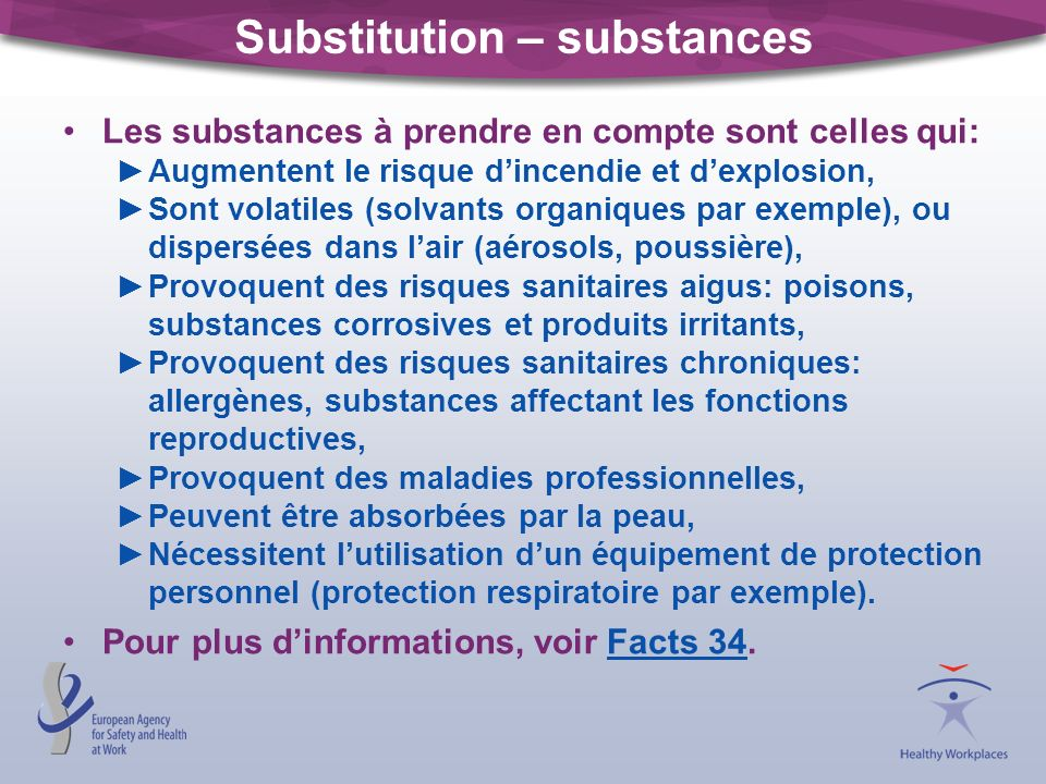 Substitution – substances