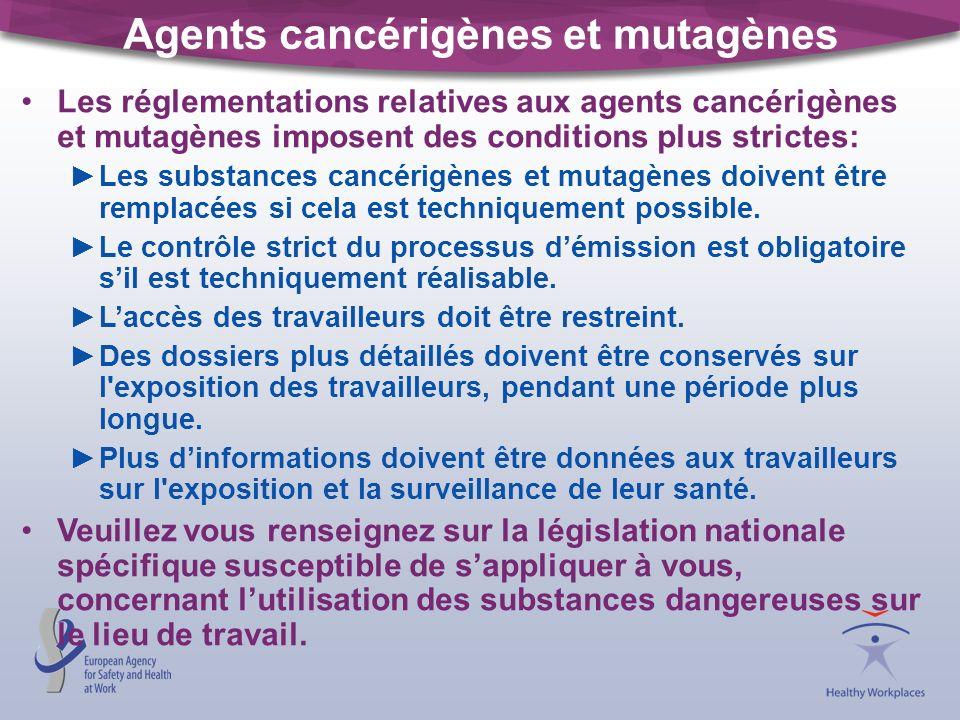 Agents cancérigènes et mutagènes
