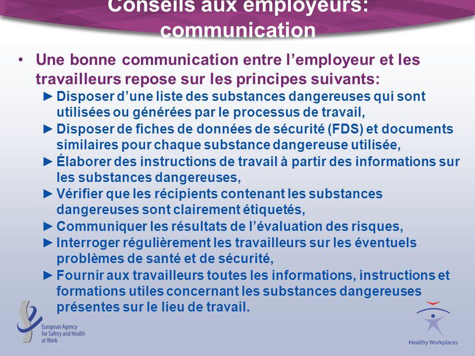 Conseils aux employeurs: communication