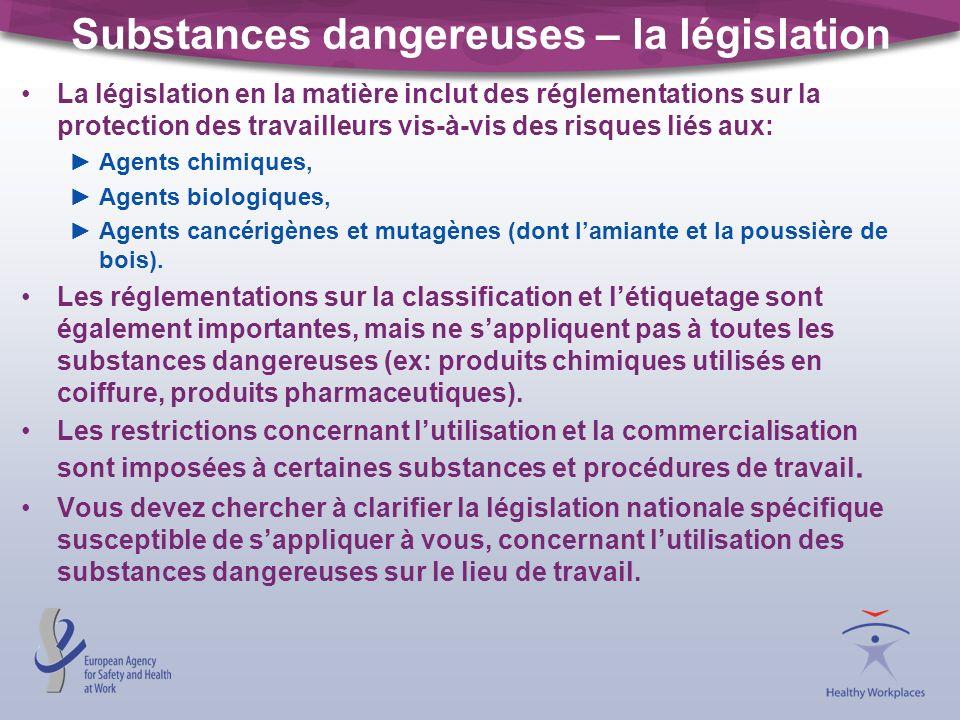 Substances dangereuses – la législation