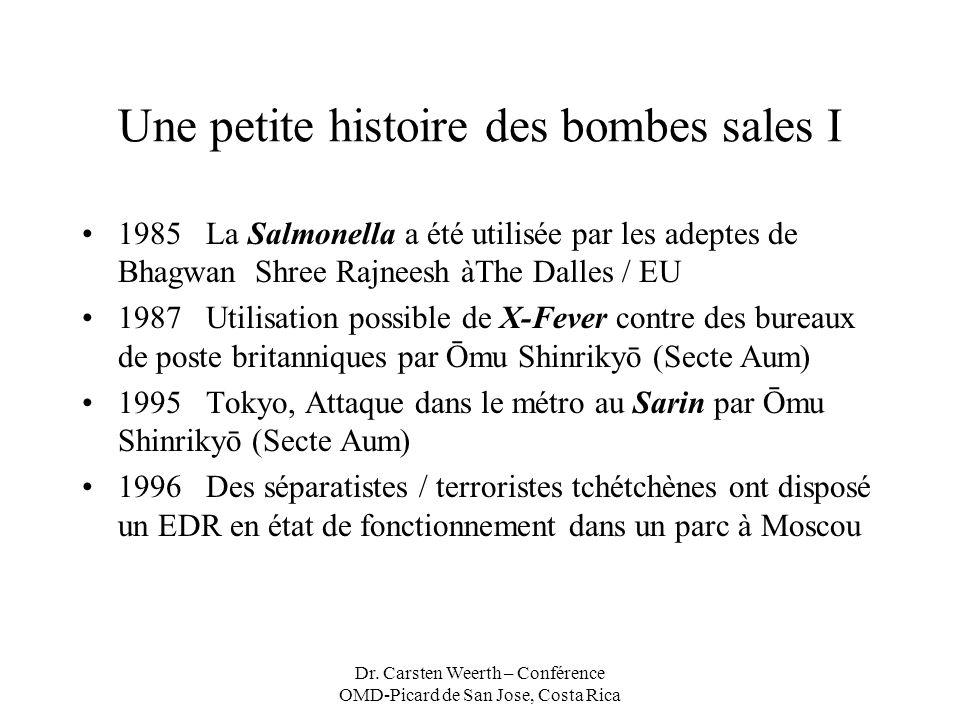 Une petite histoire des bombes sales I