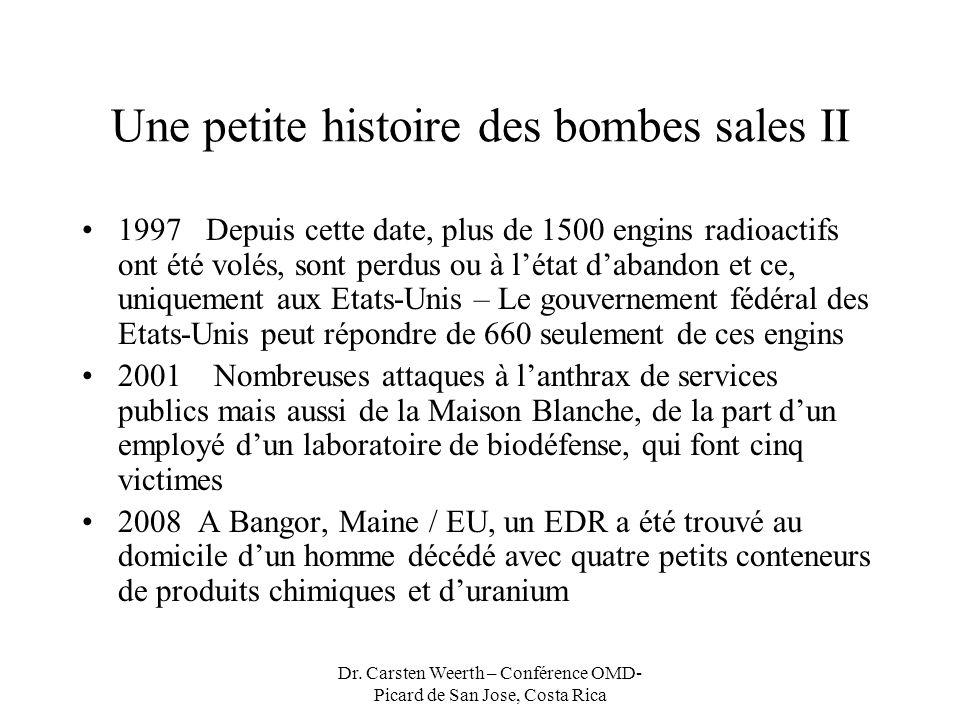 Une petite histoire des bombes sales II