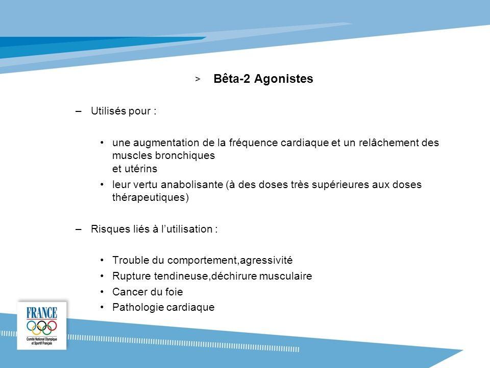 Bêta-2 Agonistes Utilisés pour :