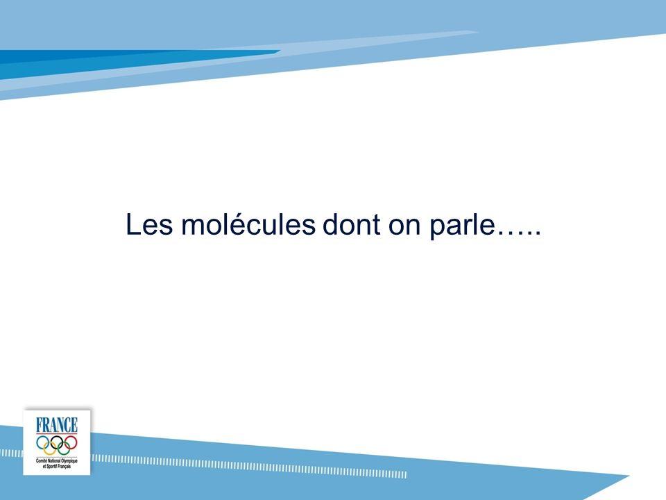 Les molécules dont on parle…..