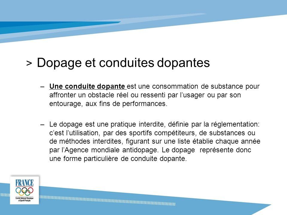 Dopage et conduites dopantes