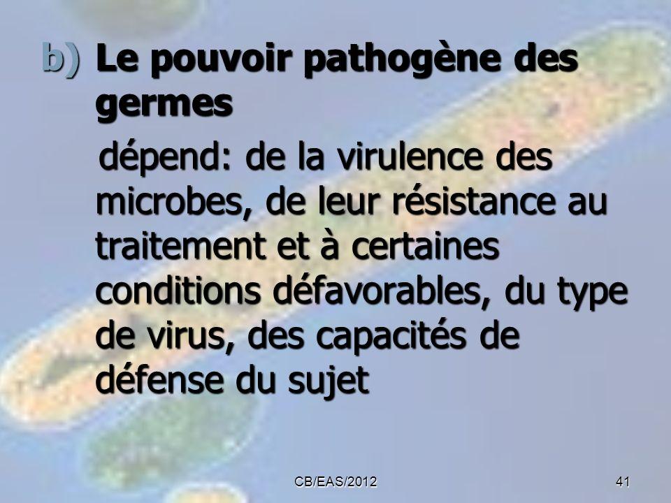 Le pouvoir pathogène des germes
