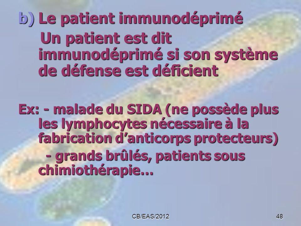 Le patient immunodéprimé
