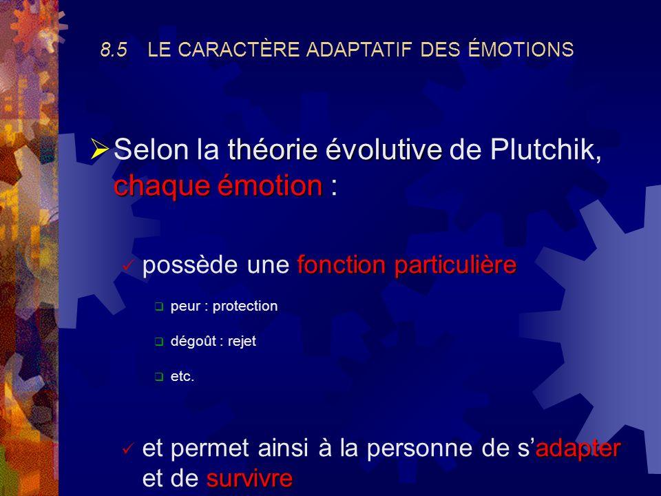 Selon la théorie évolutive de Plutchik, chaque émotion :