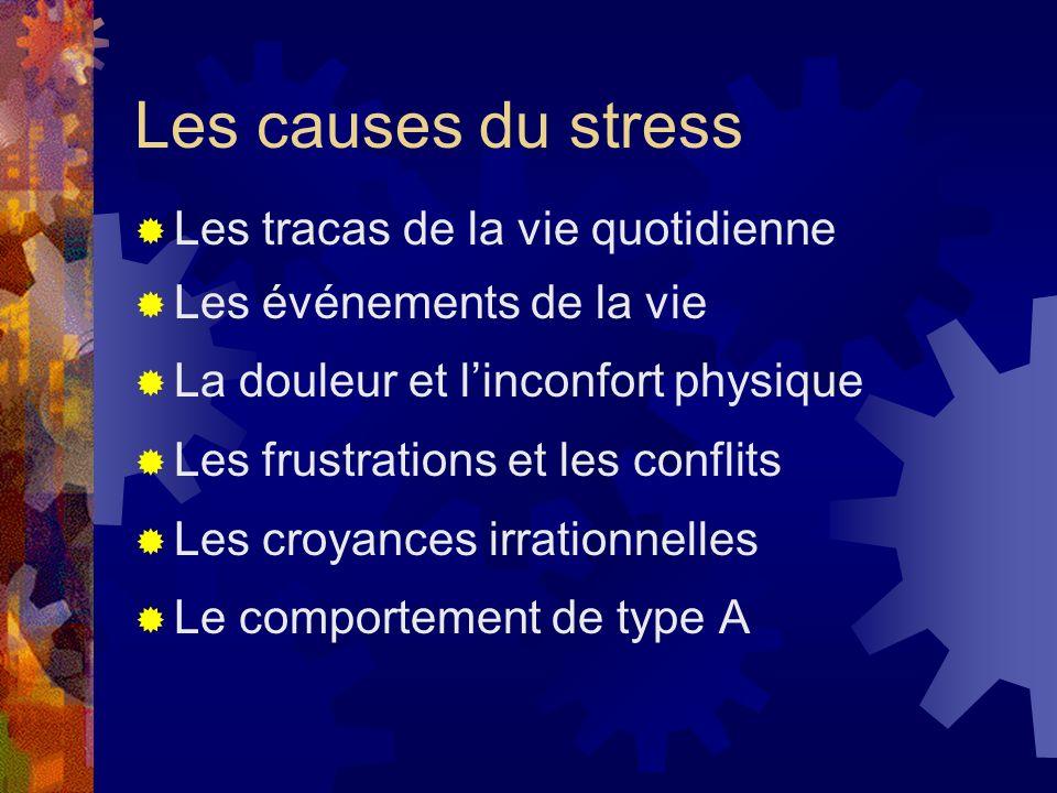 Les causes du stress Les tracas de la vie quotidienne