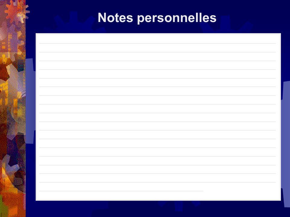 Notes personnelles