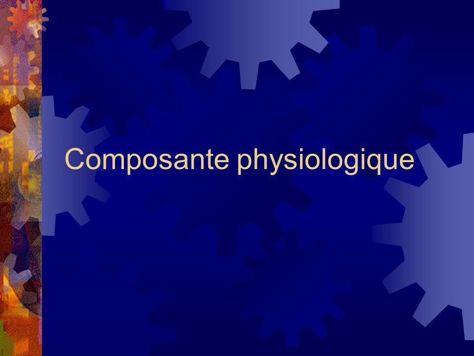Composante physiologique