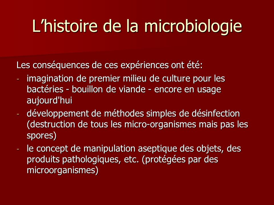 L'histoire de la microbiologie