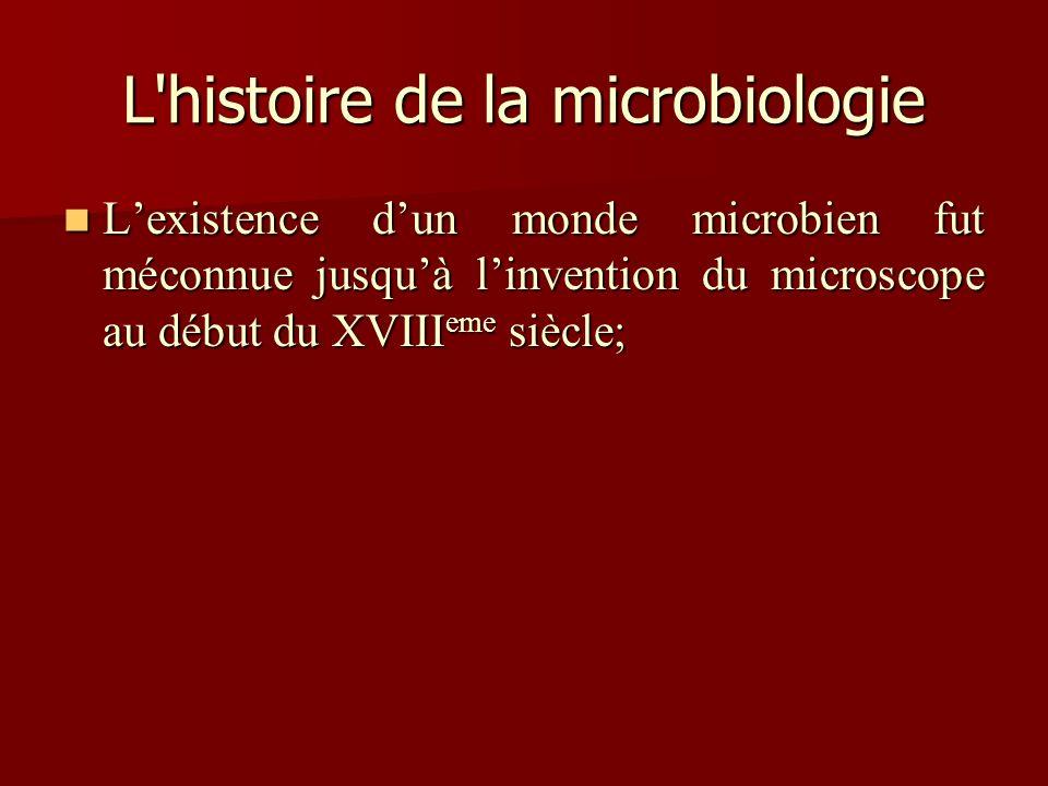 L histoire de la microbiologie