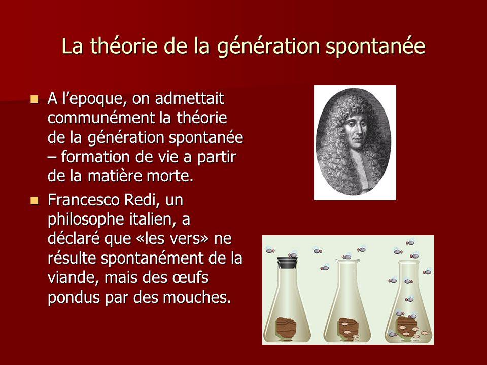 La théorie de la génération spontanée