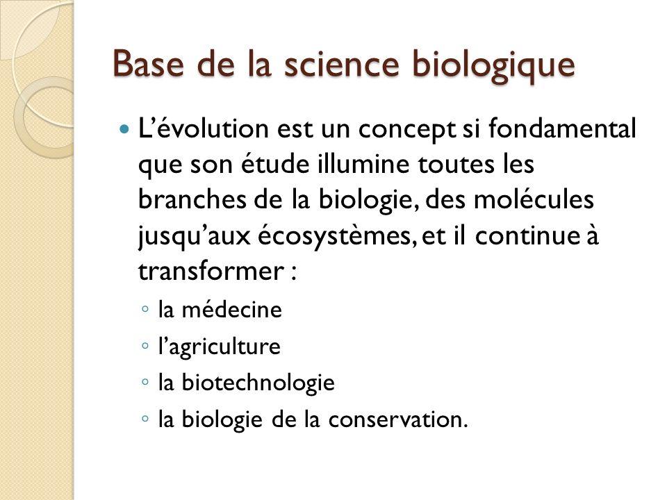 Base de la science biologique