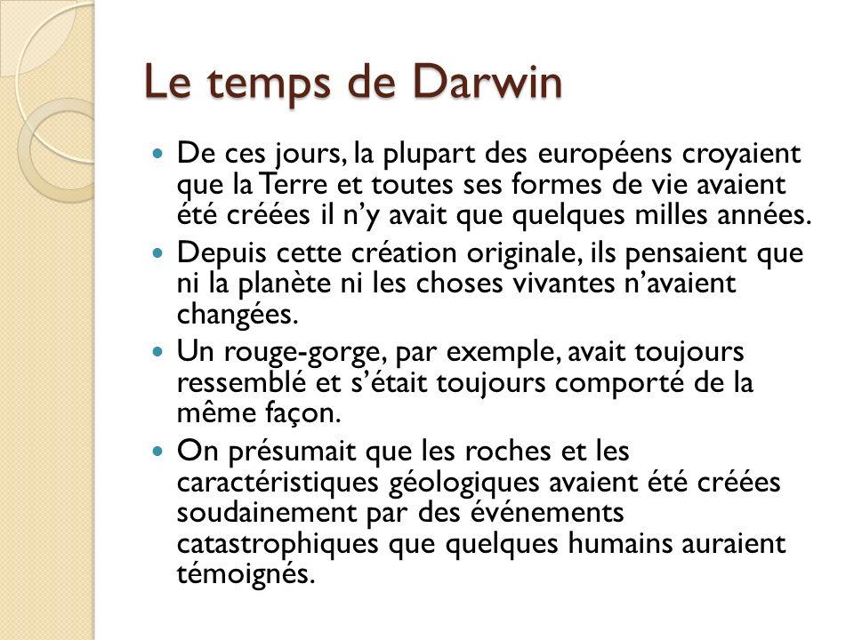 Le temps de Darwin