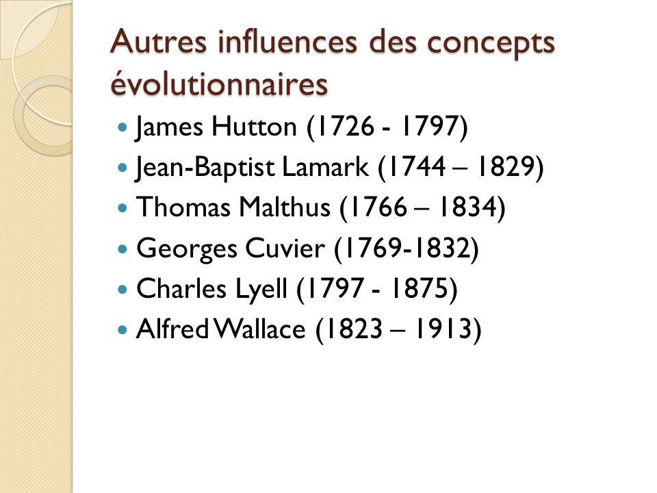 Autres influences des concepts évolutionnaires