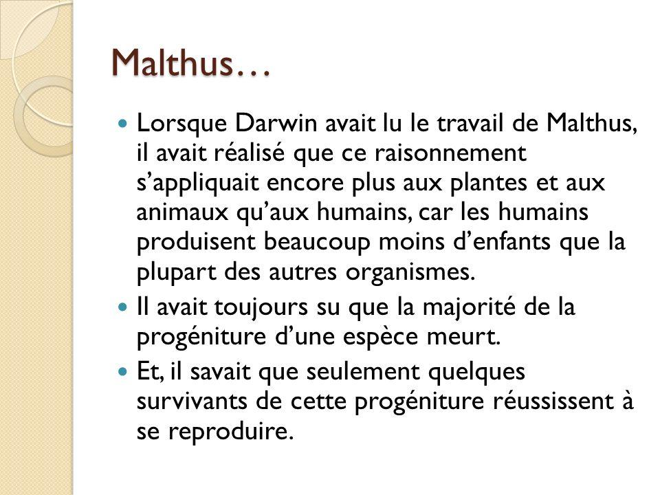 Malthus…