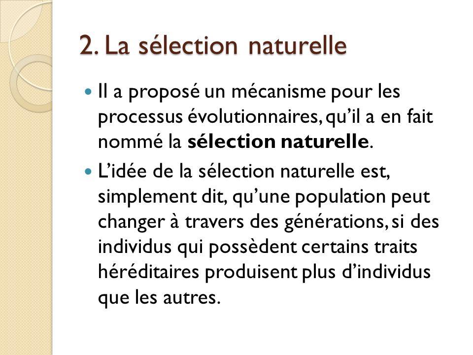 2. La sélection naturelle