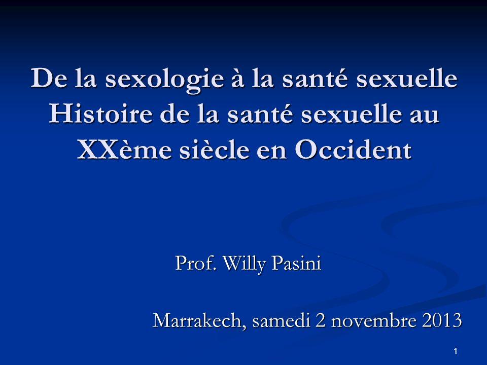 De la sexologie à la santé sexuelle Histoire de la santé sexuelle au XXème siècle en Occident