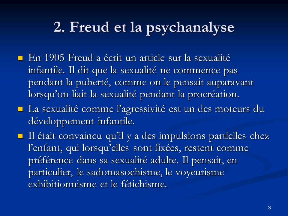 2. Freud et la psychanalyse
