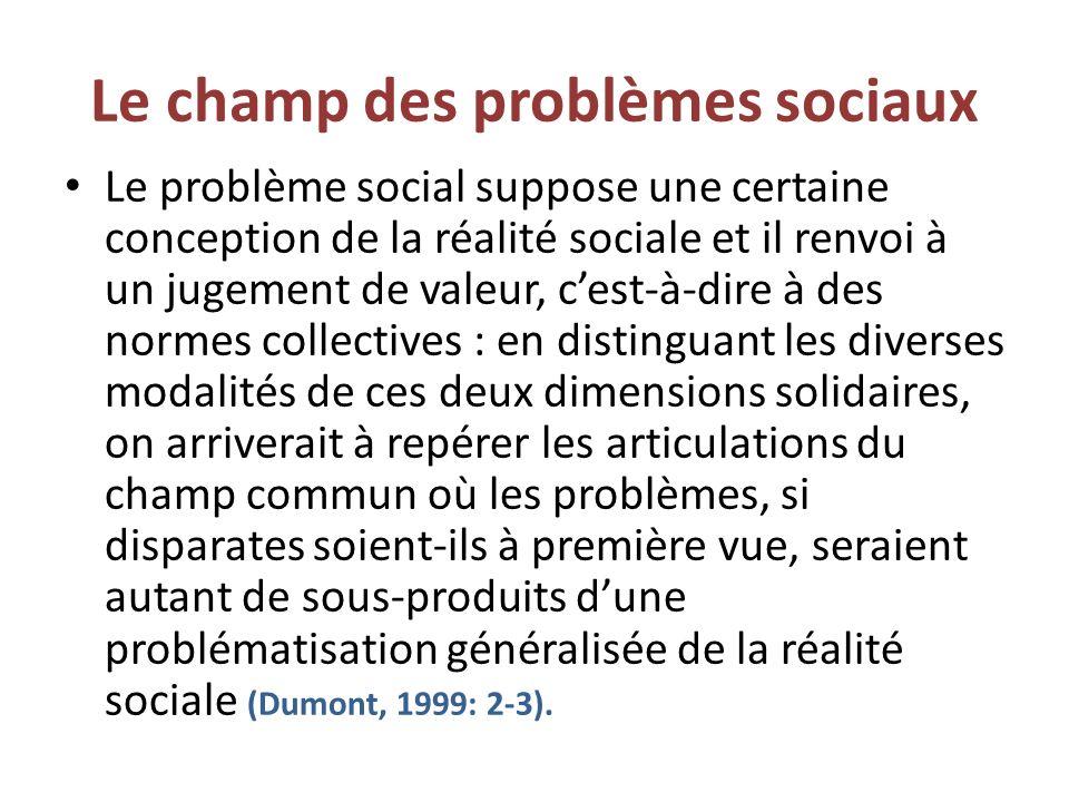 Le champ des problèmes sociaux