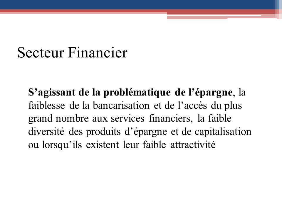Secteur Financier
