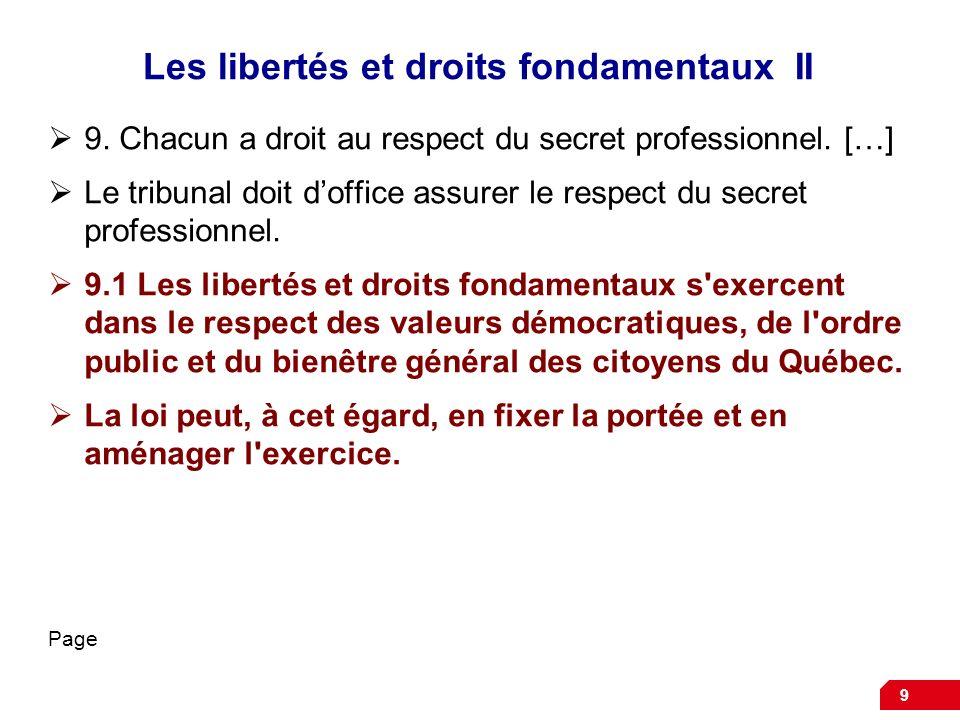 Les libertés et droits fondamentaux II