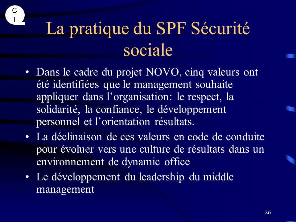 La pratique du SPF Sécurité sociale