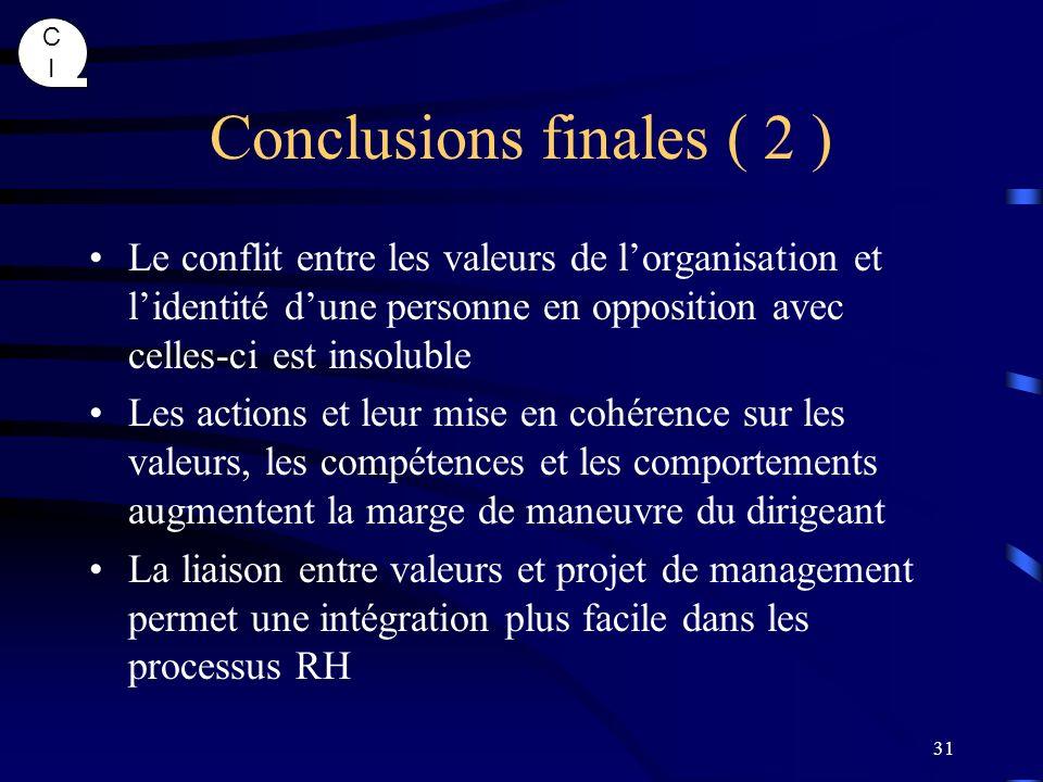 Conclusions finales ( 2 )