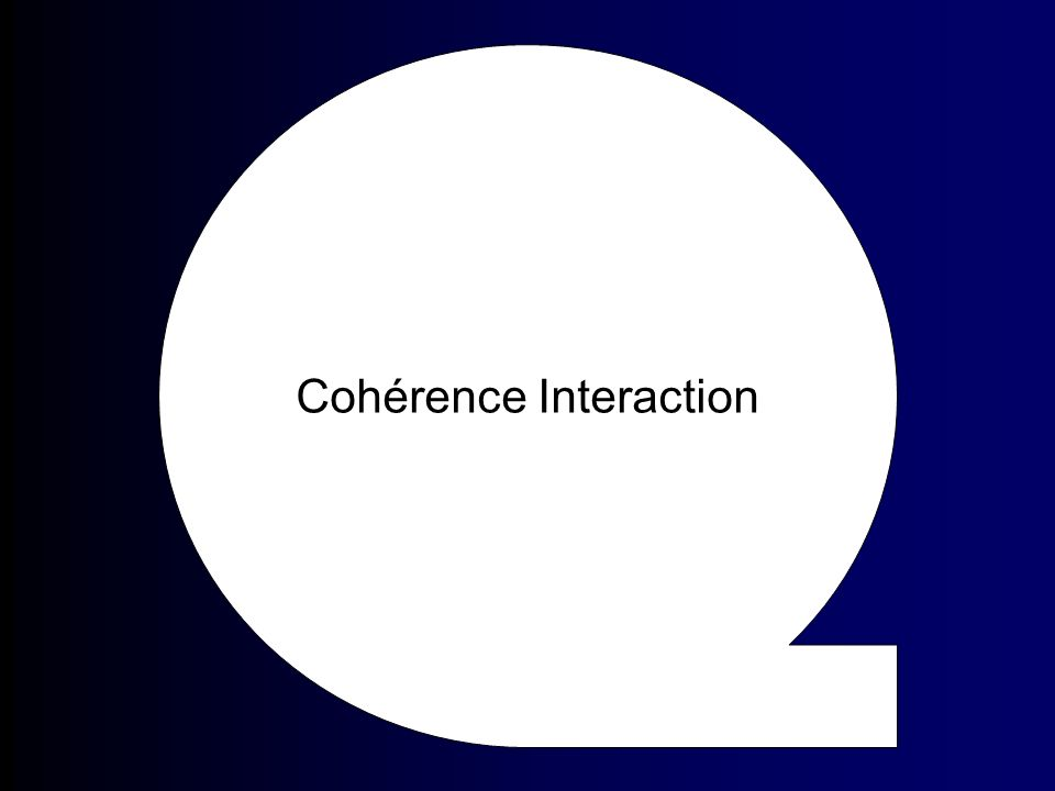 Cohérence Interaction