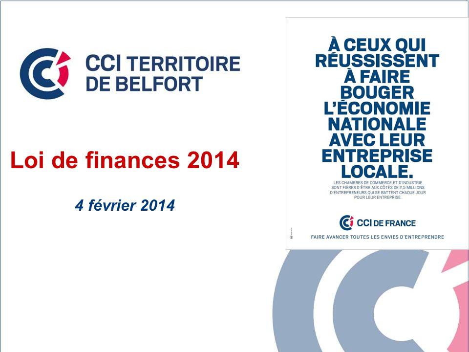 Loi de finances 2014 4 février 2014