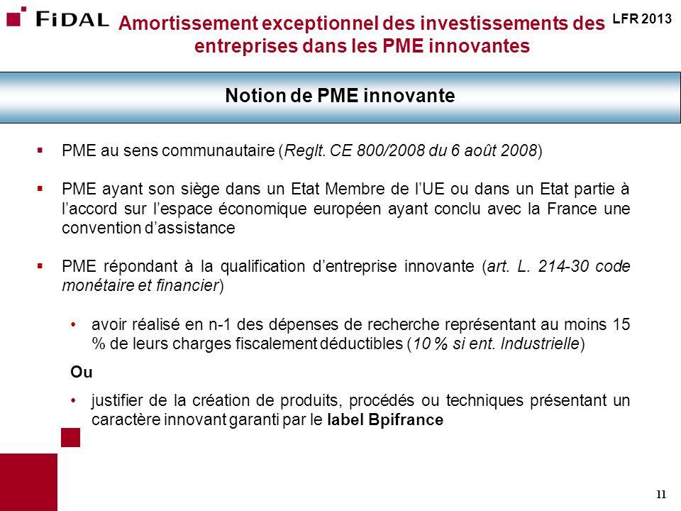 Notion de PME innovante