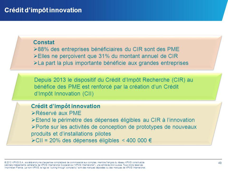 Crédit d'impôt innovation