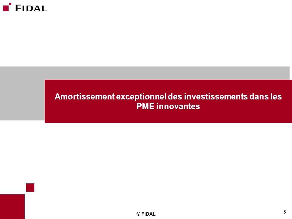 Amortissement exceptionnel des investissements dans les PME innovantes