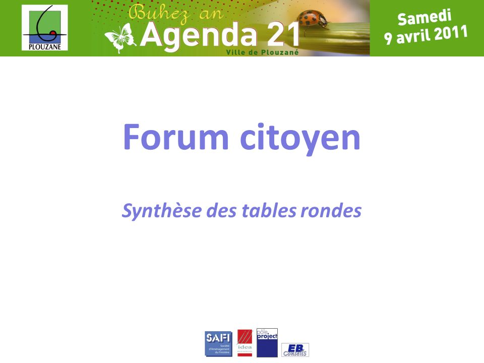 Synthèse des tables rondes