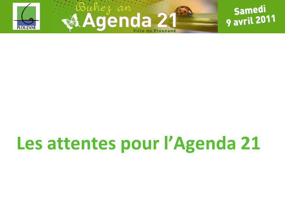Les attentes pour l'Agenda 21