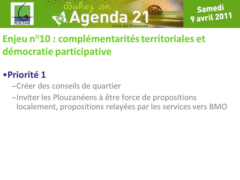 Enjeu n°10 : complémentarités territoriales et démocratie participative